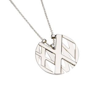 Tiffany Round Silver Atlas Necklace